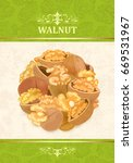 fine poster with delicious... | Shutterstock .eps vector #669531967