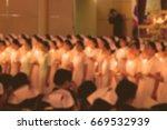 blurred image of nursing prayer | Shutterstock . vector #669532939