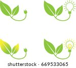 clean energy icon set   green... | Shutterstock .eps vector #669533065