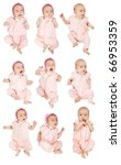 set of 9 little baby girl.... | Shutterstock . vector #66953359