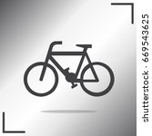 bicycle vector icon on white... | Shutterstock .eps vector #669543625