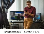 programmer configures the... | Shutterstock . vector #669547471