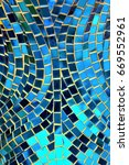 Small photo of Mosaic made from assemblage of small pieces of colored glass. It is often used in decorative art or as interior decoration.