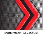 abstract red arrow on metal... | Shutterstock .eps vector #669556051