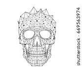 black and white illustration of ... | Shutterstock .eps vector #669563974