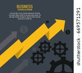 arrow growth gears business... | Shutterstock .eps vector #669571291
