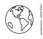 world planet icon | Shutterstock .eps vector #669575467