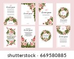 collection of wedding... | Shutterstock .eps vector #669580885