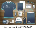 gift items business corporate... | Shutterstock .eps vector #669587485