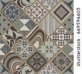 seamless ceramic tile with...   Shutterstock .eps vector #669596605