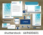 vector abstract stationery... | Shutterstock .eps vector #669600601