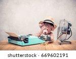 Teddy Bear Toy In Hat Sitting...