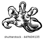 monster claws  talons or hand... | Shutterstock .eps vector #669604135