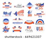 4th of july independence day... | Shutterstock .eps vector #669621337