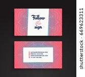 business card. vintage...   Shutterstock .eps vector #669623311
