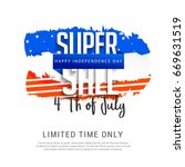 4th of july usa independence... | Shutterstock .eps vector #669631519