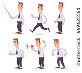 worker pose pack | Shutterstock .eps vector #669635581