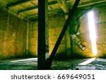 abandoned building interior | Shutterstock . vector #669649051