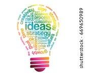 ideas sphere bulb words cloud ... | Shutterstock . vector #669650989