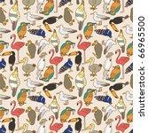 seamless bird pattern   Shutterstock .eps vector #66965500