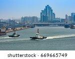 in port of incheon  korea | Shutterstock . vector #669665749