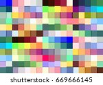 vector colorful repeated... | Shutterstock .eps vector #669666145