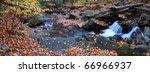 Autumn Creek Closeup Panorama...