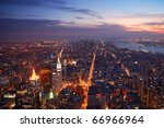 new york city manhattan... | Shutterstock . vector #66966964