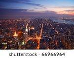 new york city manhattan... | Shutterstock . vector #66966964