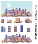 vector low poly buildings and... | Shutterstock .eps vector #669670777