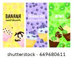 a set of three posters of... | Shutterstock .eps vector #669680611