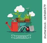 Garden Vector Concept Design...