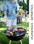 close up of a barbecue grill... | Shutterstock . vector #669687421