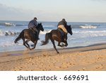 Two Men Horse Racing On The...