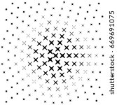 vector dots halftone. black... | Shutterstock .eps vector #669691075