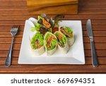 vegetarian food. organic...   Shutterstock . vector #669694351