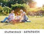 healthy enthusiastic men... | Shutterstock . vector #669696454