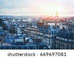 beautiful panoramic view of... | Shutterstock . vector #669697081