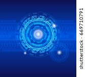 technology blue background | Shutterstock .eps vector #669710791