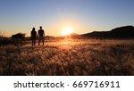 young couple enjoying the... | Shutterstock . vector #669716911
