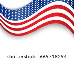 usa flag design that can use to ... | Shutterstock .eps vector #669718294