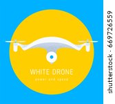 drone vector icon with quality... | Shutterstock .eps vector #669726559
