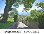 landscape of thun switzerland... | Shutterstock . vector #669736819