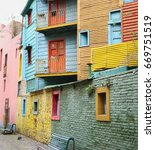 Colorful Buildings In Buenos...