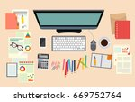 analyst. business. study the... | Shutterstock . vector #669752764