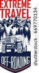 vector 4x4 off roading travel... | Shutterstock .eps vector #669770134