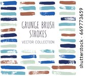 vector set of grunge brush... | Shutterstock .eps vector #669773659