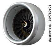 part of a modern turbofan... | Shutterstock . vector #669780601