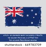australian flat flag   vector... | Shutterstock .eps vector #669783709