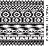 black geometric seamless... | Shutterstock .eps vector #669784825
